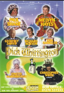Dick Whittington Crewe Paul Ferris